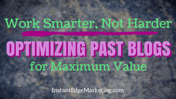 Optimize past blogs